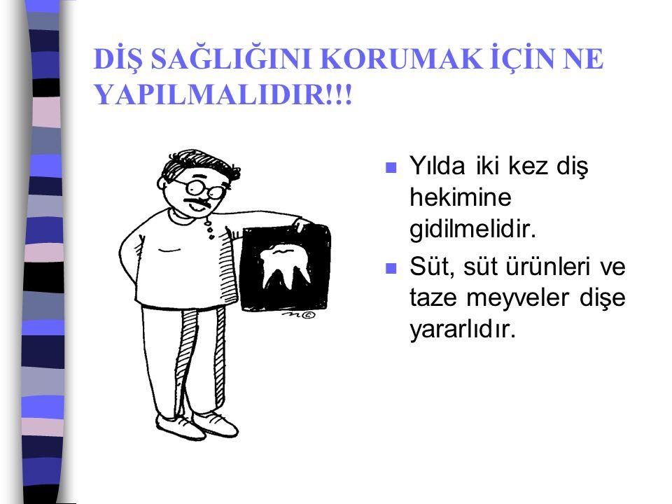 DİŞ SAĞLIĞINI KORUMAK İÇİN NE YAPILMALIDIR!!!