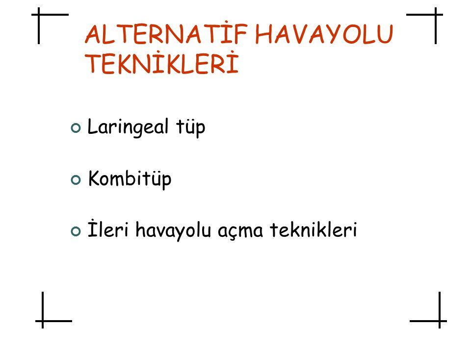 ALTERNATİF HAVAYOLU TEKNİKLERİ