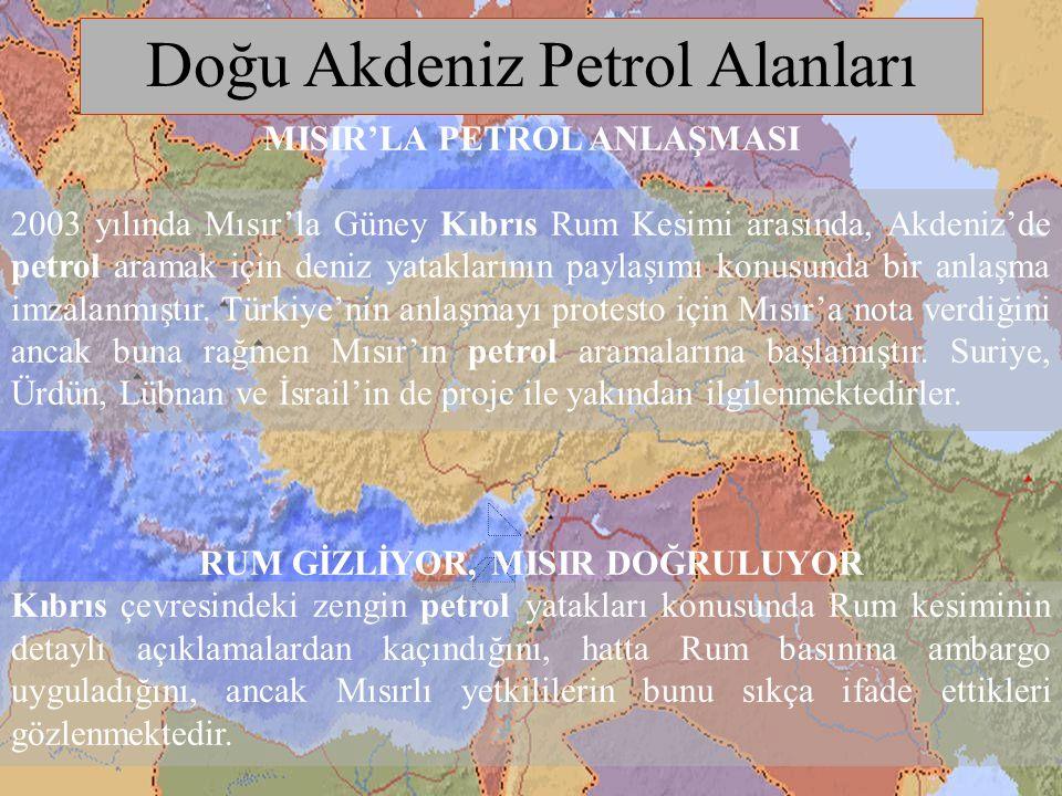 Doğu Akdeniz Petrol Alanları