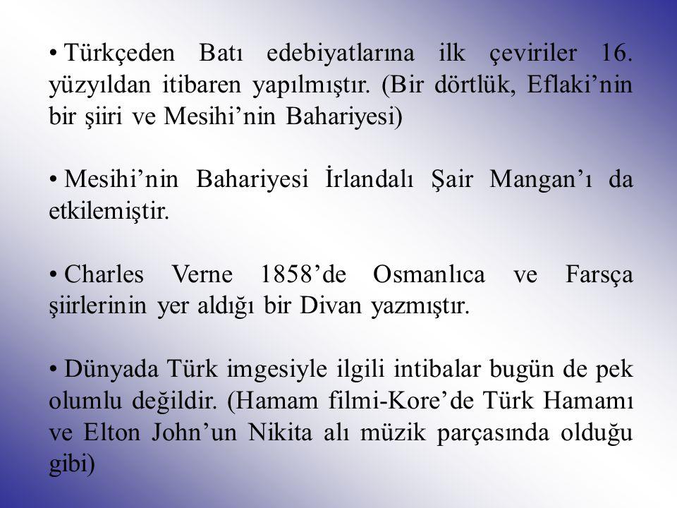 Türkçeden Batı edebiyatlarına ilk çeviriler 16