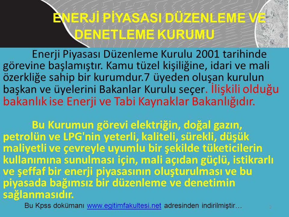 ENERJİ PİYASASI DÜZENLEME VE DENETLEME KURUMU