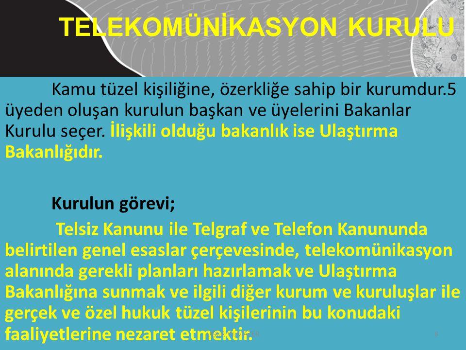 TELEKOMÜNİKASYON KURULU