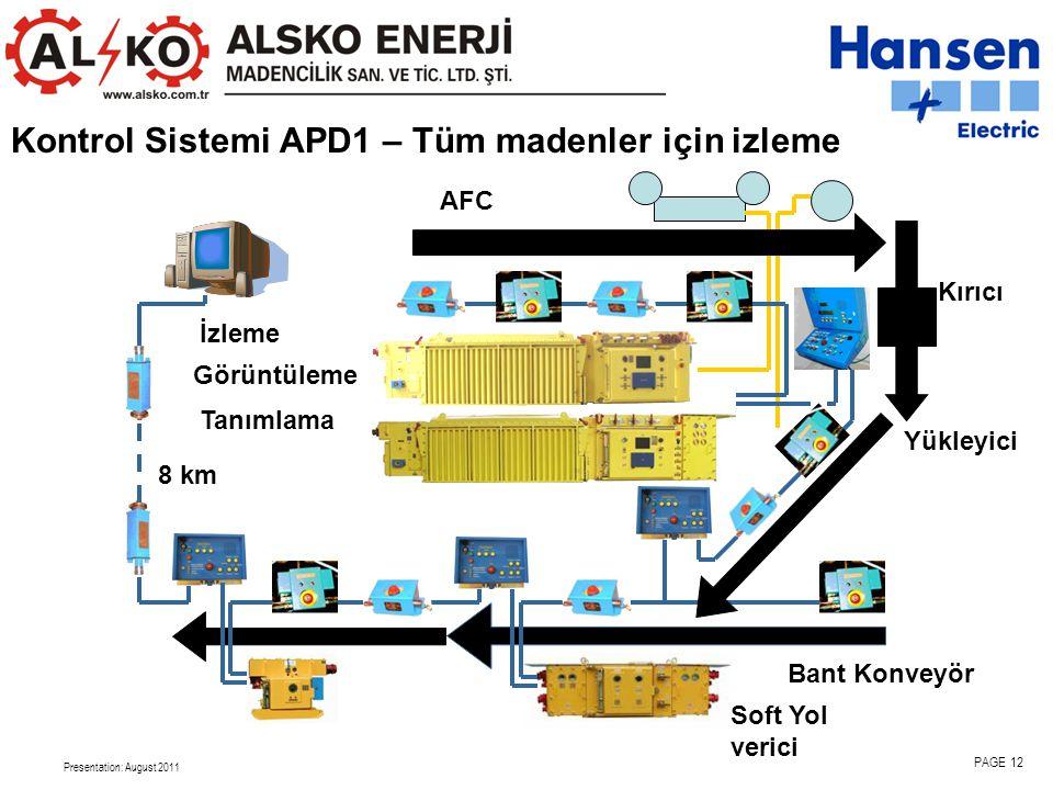 Kontrol Sistemi APD1 – Tüm madenler için izleme