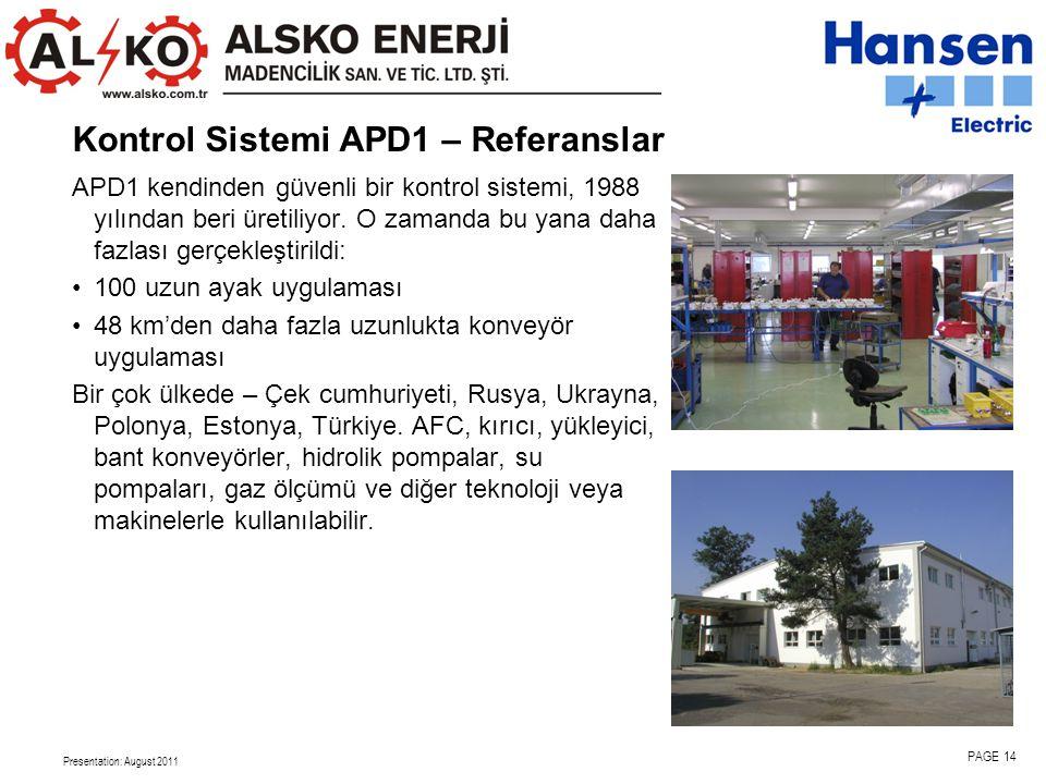 Kontrol Sistemi APD1 – Referanslar