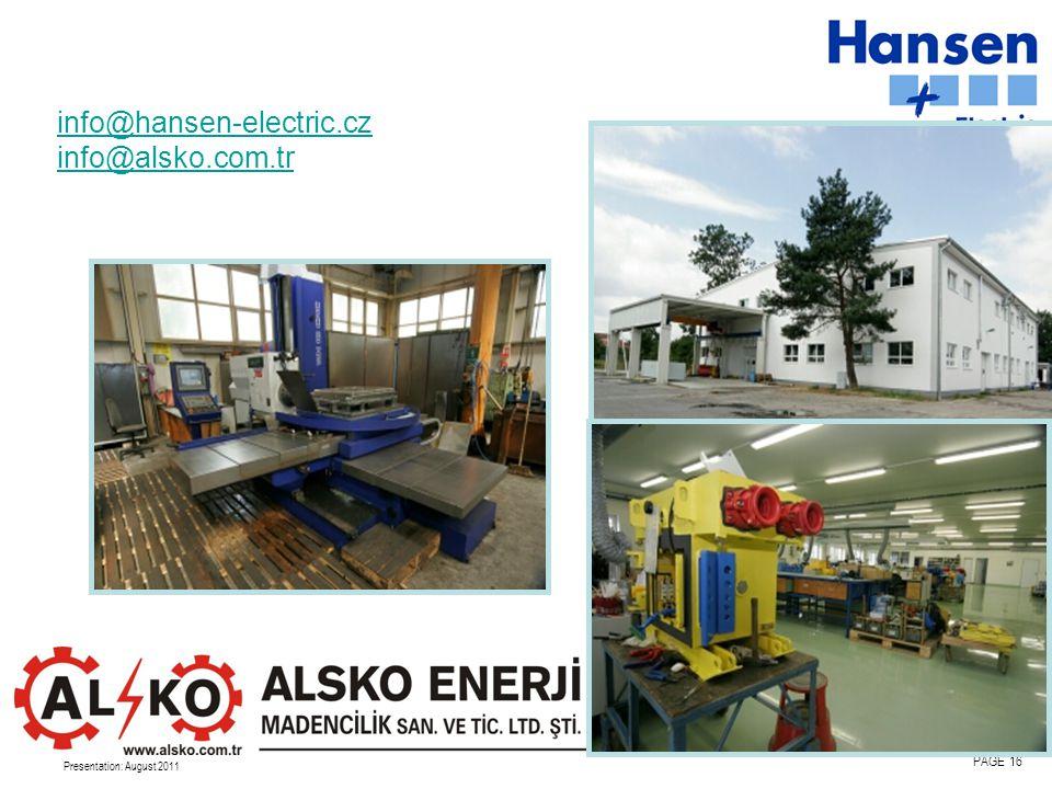 info@hansen-electric.cz info@alsko.com.tr