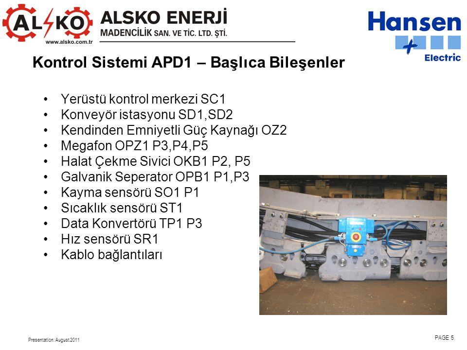 Kontrol Sistemi APD1 – Başlıca Bileşenler