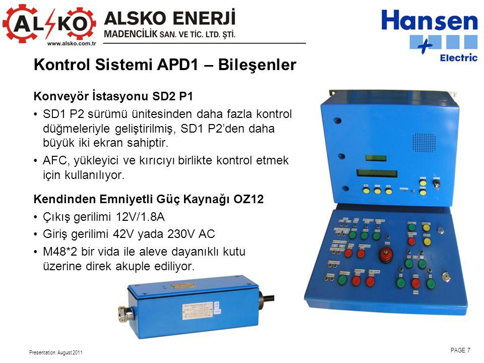 Kontrol Sistemi APD1 – Bileşenler
