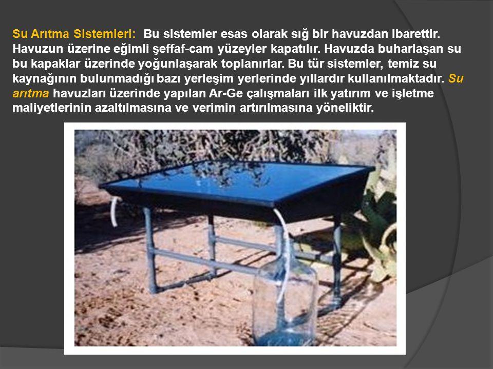 Su Arıtma Sistemleri: Bu sistemler esas olarak sığ bir havuzdan ibarettir.