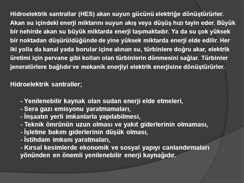 Hidroelektrik santraller;