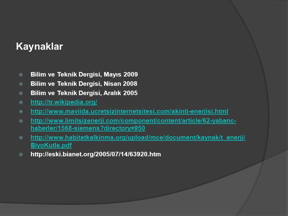 Kaynaklar Bilim ve Teknik Dergisi, Mayıs 2009