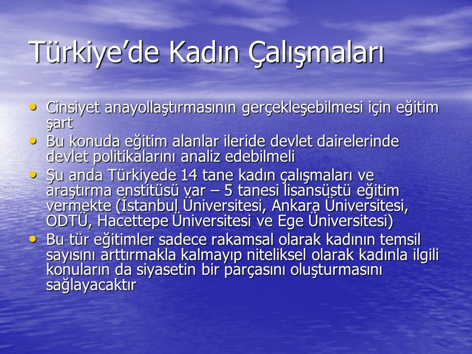 Türkiye'de Kadın Çalışmaları
