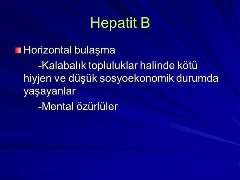 Hepatit B Horizontal bulaşma
