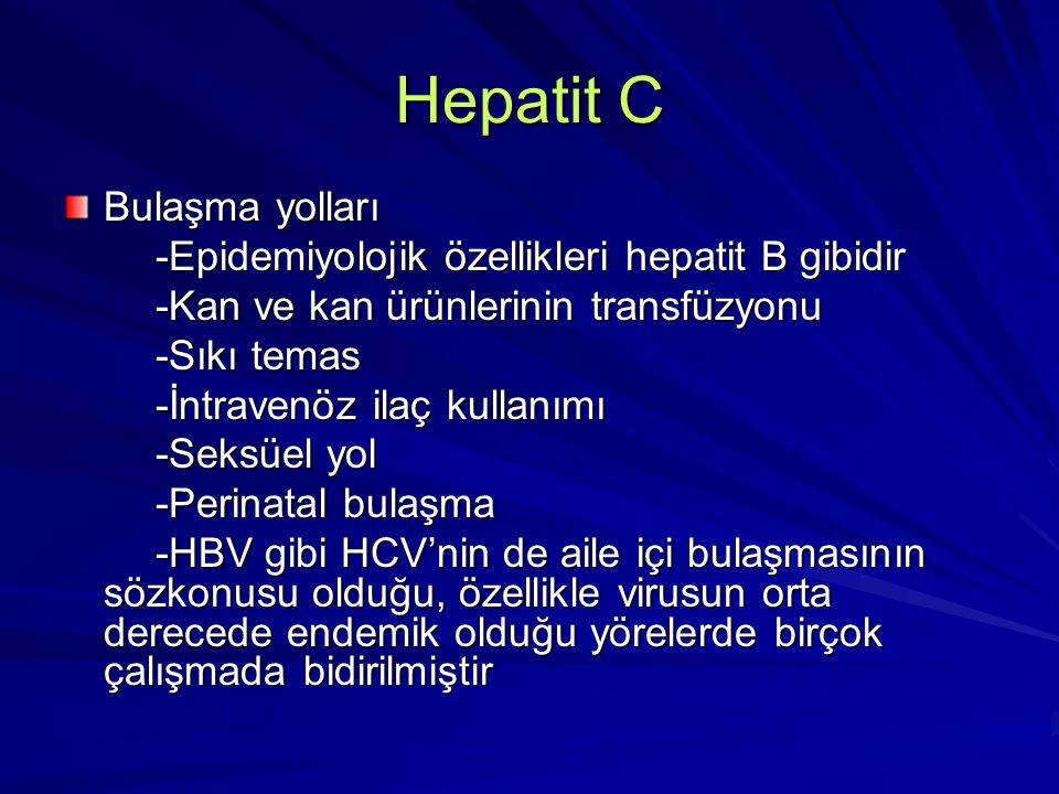 Hepatit C Bulaşma yolları
