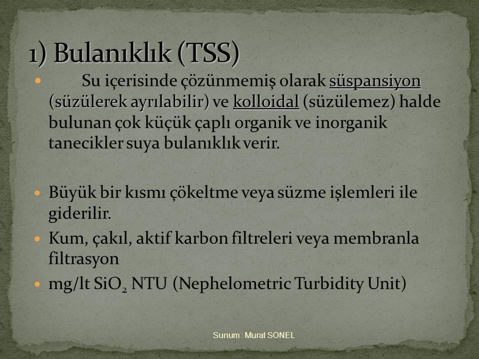 3. April 2017 1) Bulanıklık (TSS)