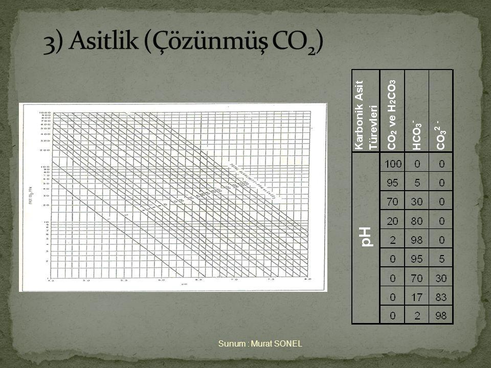 3) Asitlik (Çözünmüş CO2)