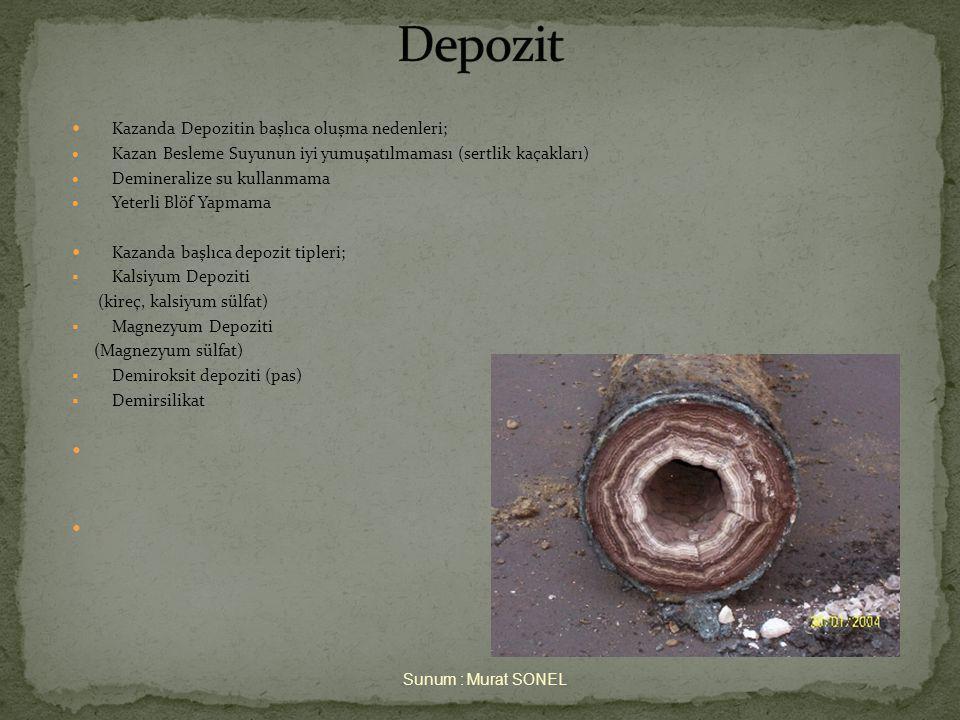 Depozit Kazanda Depozitin başlıca oluşma nedenleri;