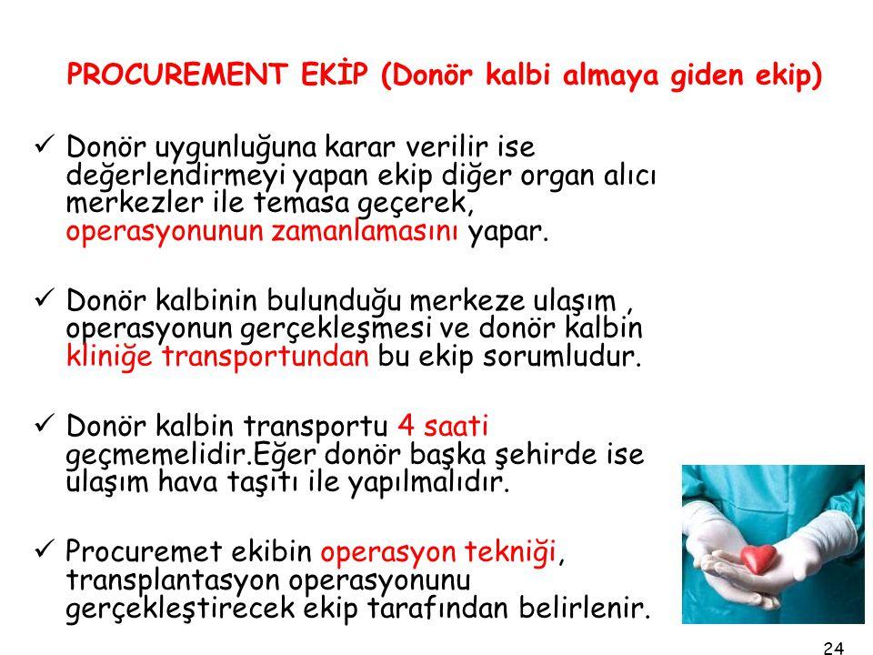 PROCUREMENT EKİP (Donör kalbi almaya giden ekip)