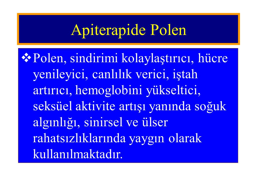 Apiterapide Polen