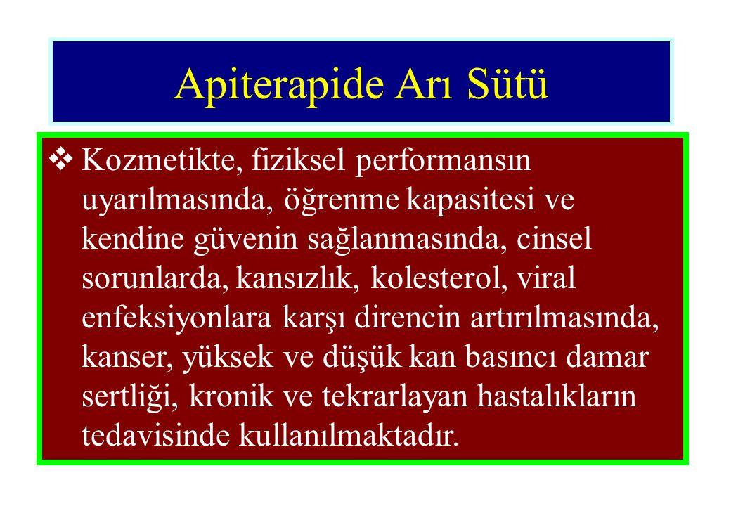 Apiterapide Arı Sütü