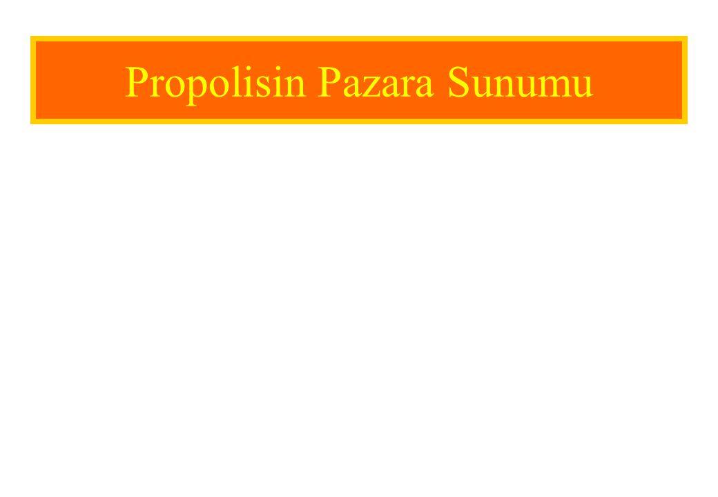 Propolisin Pazara Sunumu