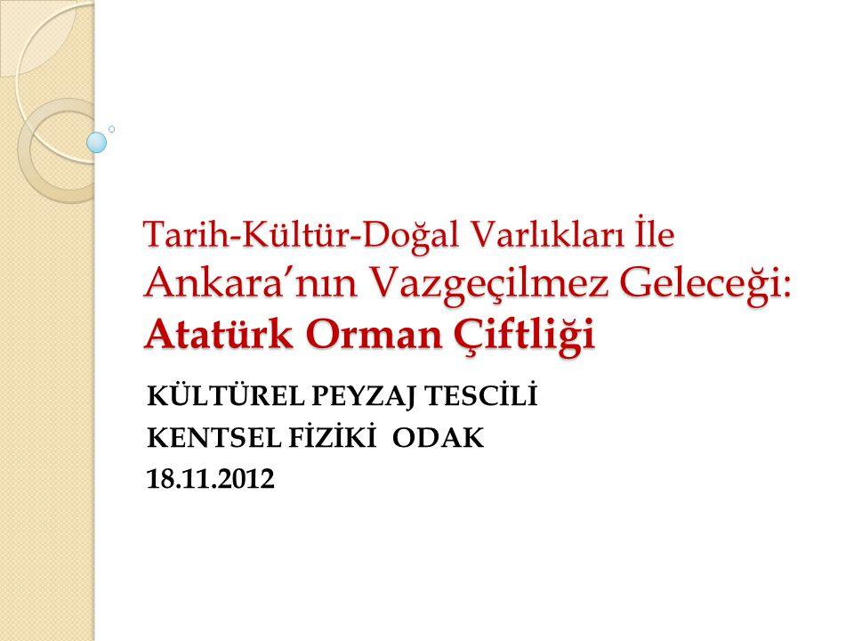 KÜLTÜREL PEYZAJ TESCİLİ KENTSEL FİZİKİ ODAK 18.11.2012