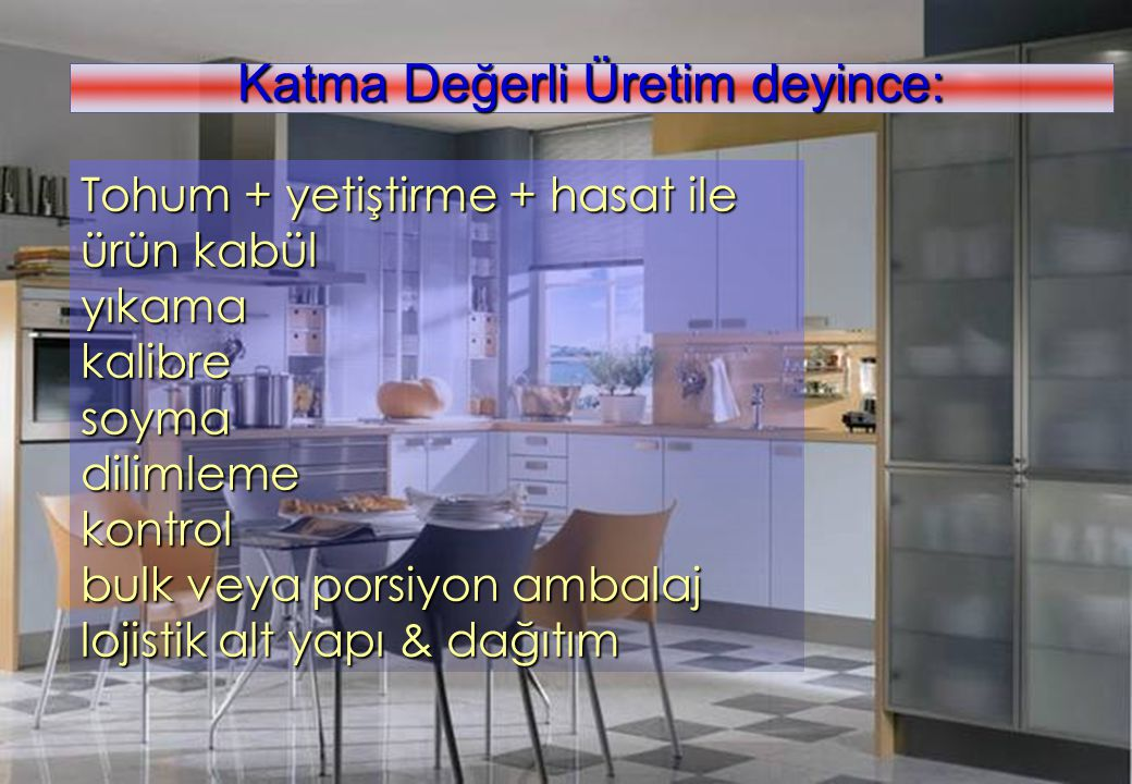 Katma Değerli Üretim deyince: