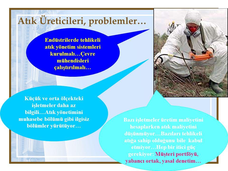 Atık Üreticileri, problemler…