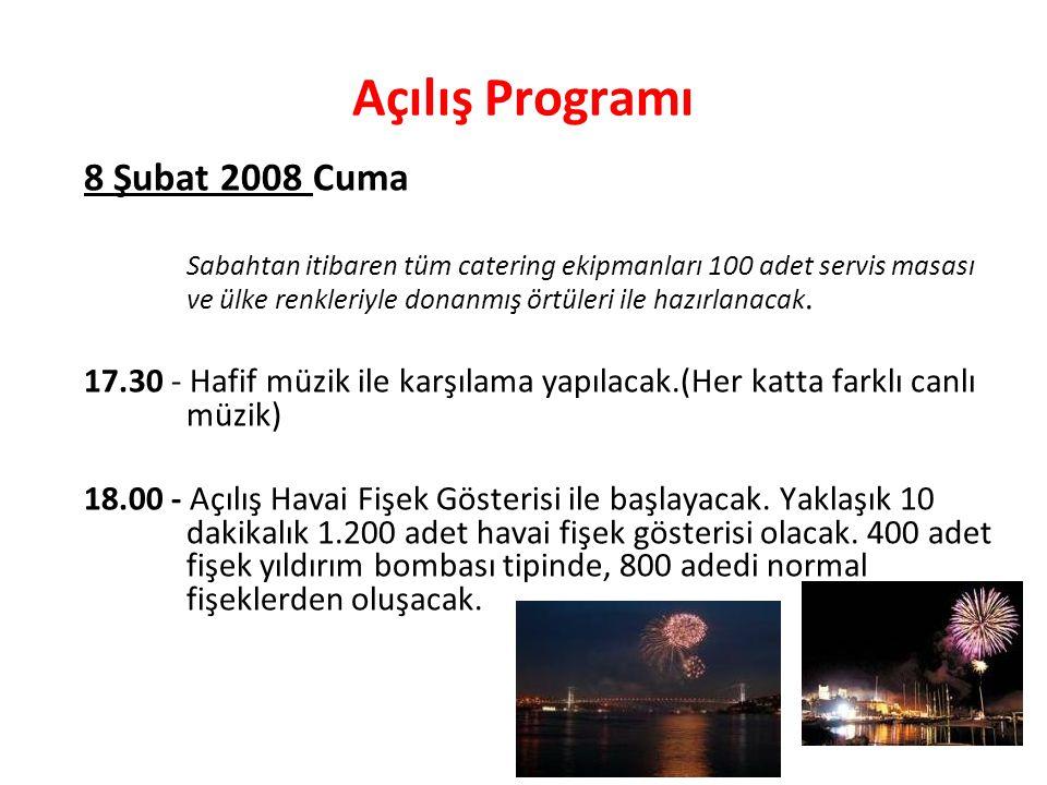 Açılış Programı 8 Şubat 2008 Cuma