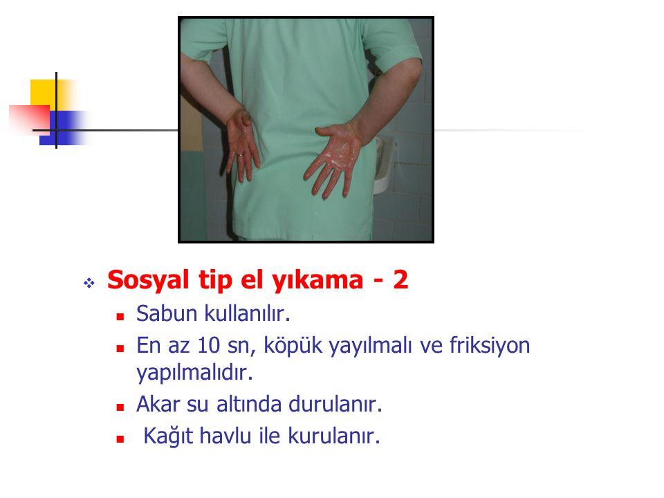 Sosyal tip el yıkama - 2 Sabun kullanılır.