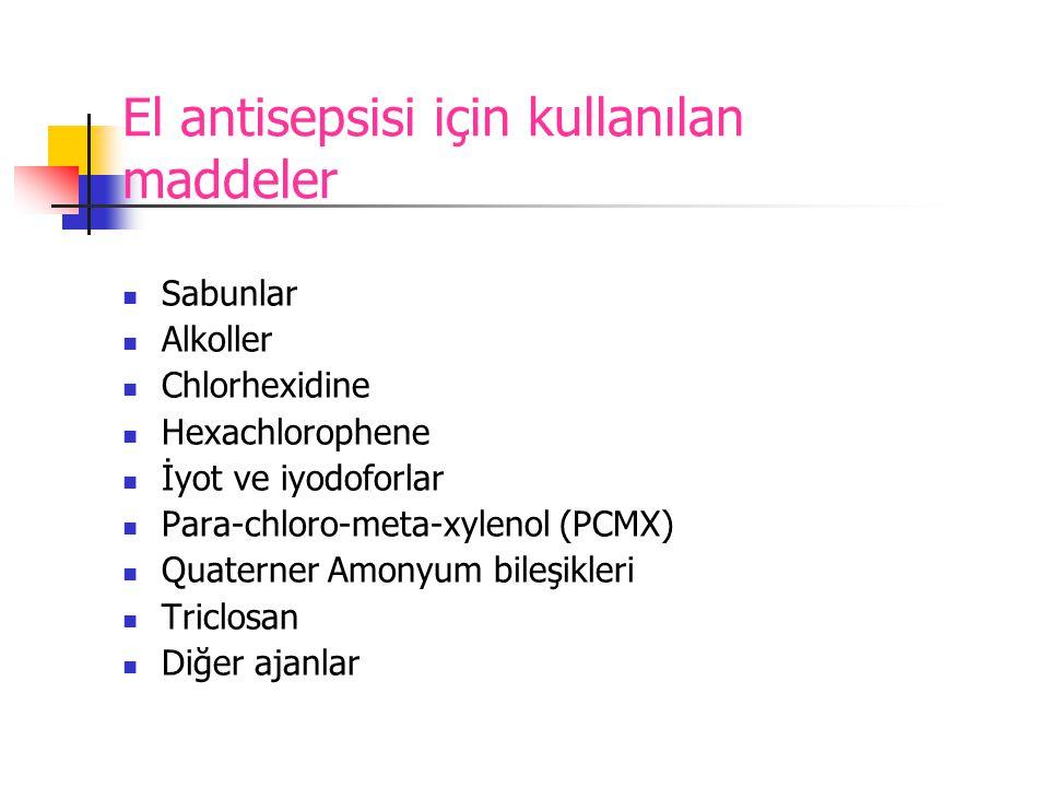 El antisepsisi için kullanılan maddeler