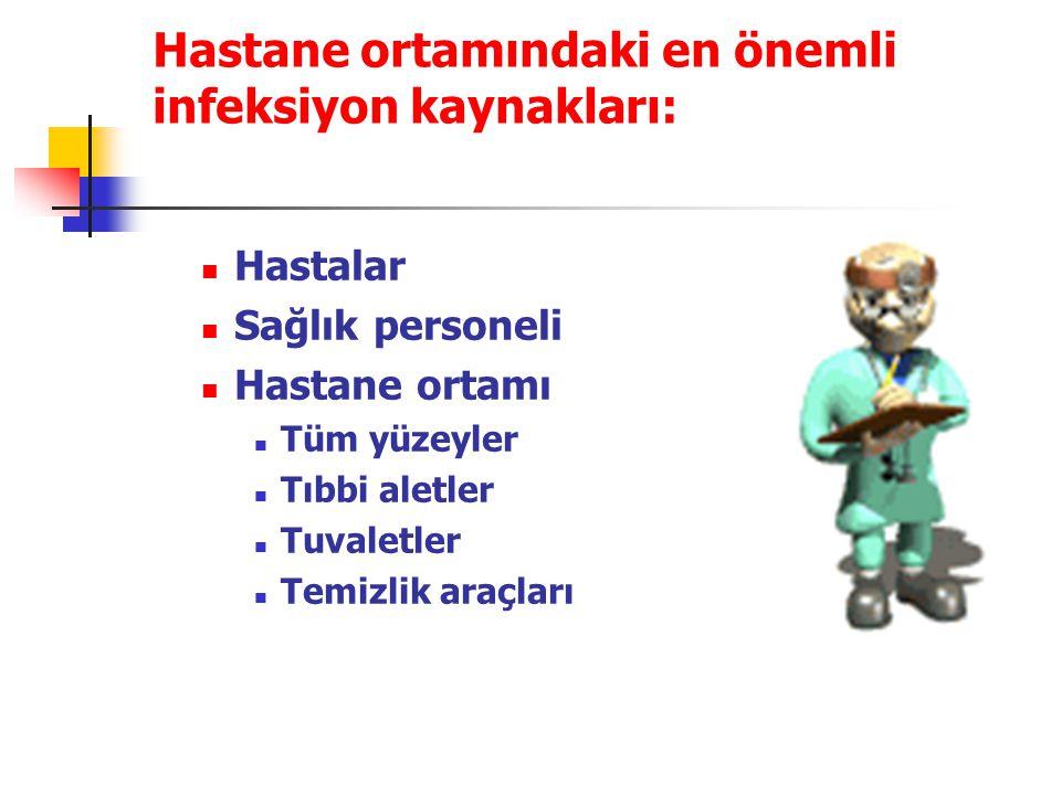 Hastane ortamındaki en önemli infeksiyon kaynakları: