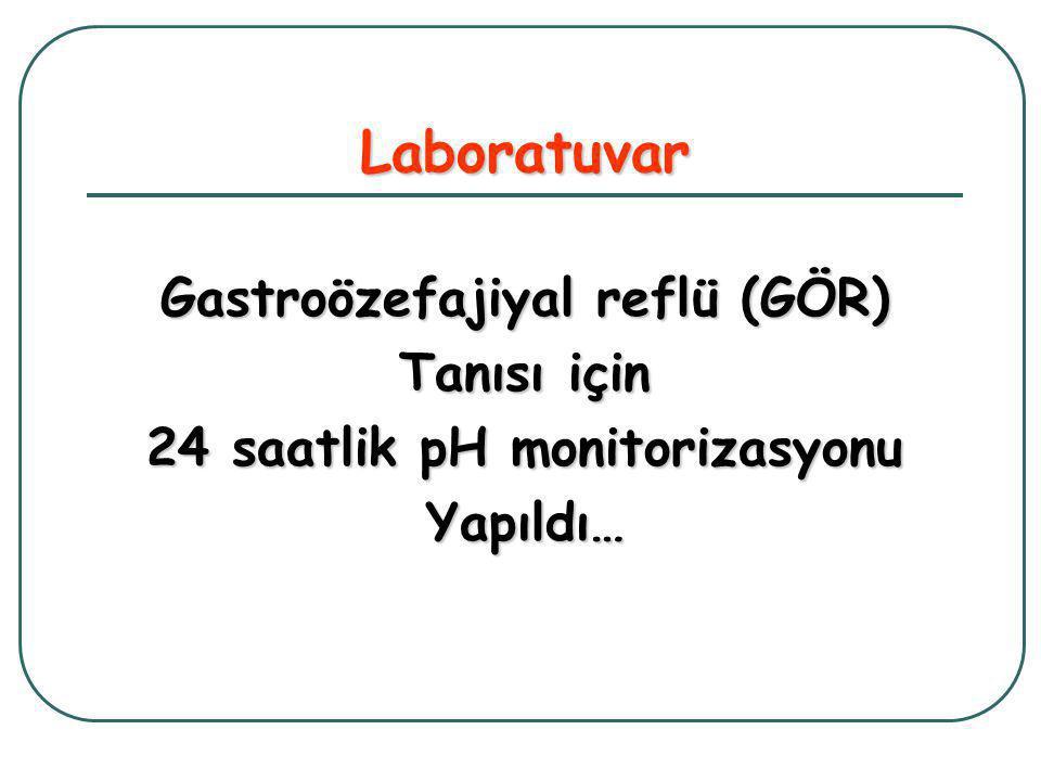 Gastroözefajiyal reflü (GÖR) 24 saatlik pH monitorizasyonu