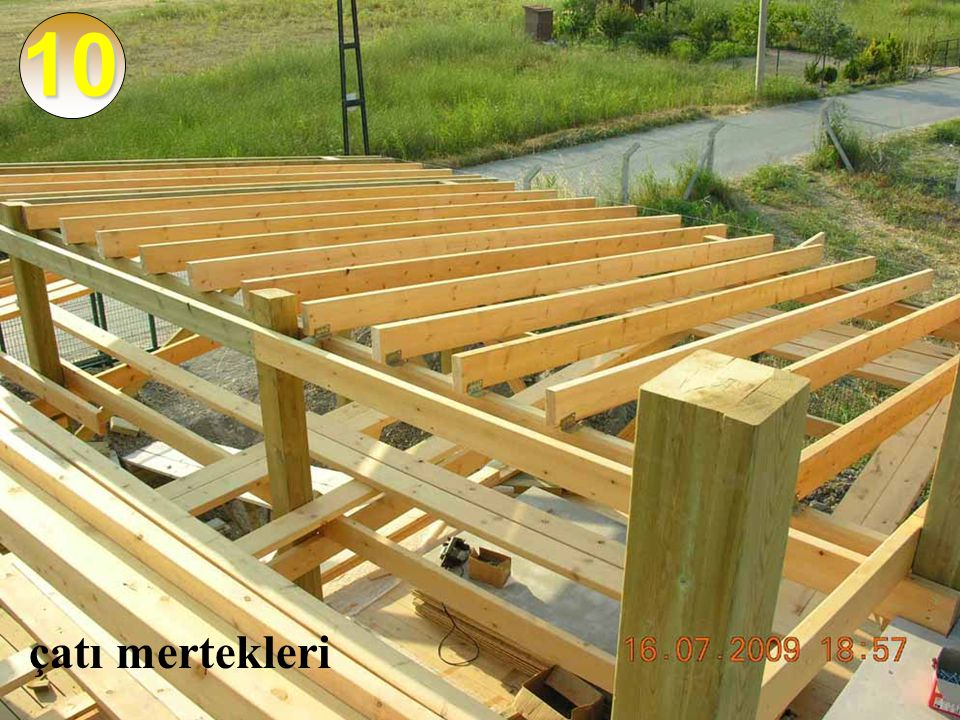 10 çatı mertekleri
