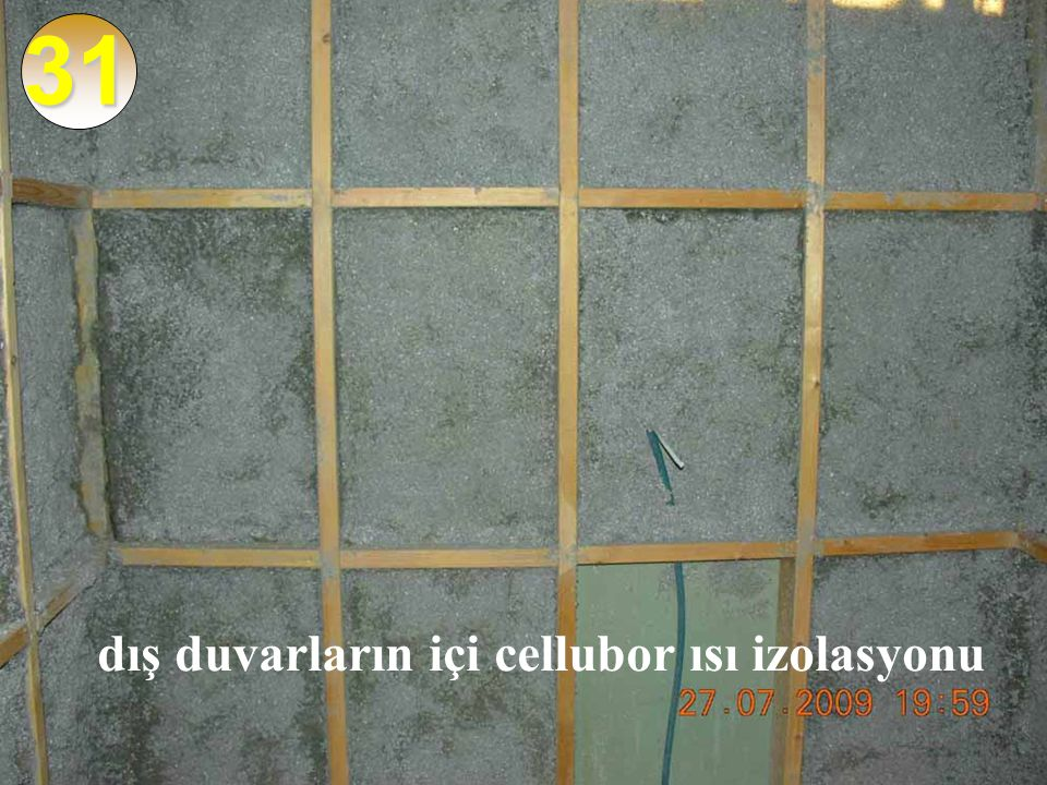 31 dış duvarların içi cellubor ısı izolasyonu