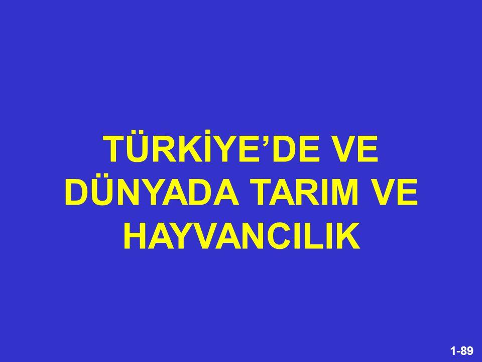 TÜRKİYE'DE VE DÜNYADA TARIM VE HAYVANCILIK