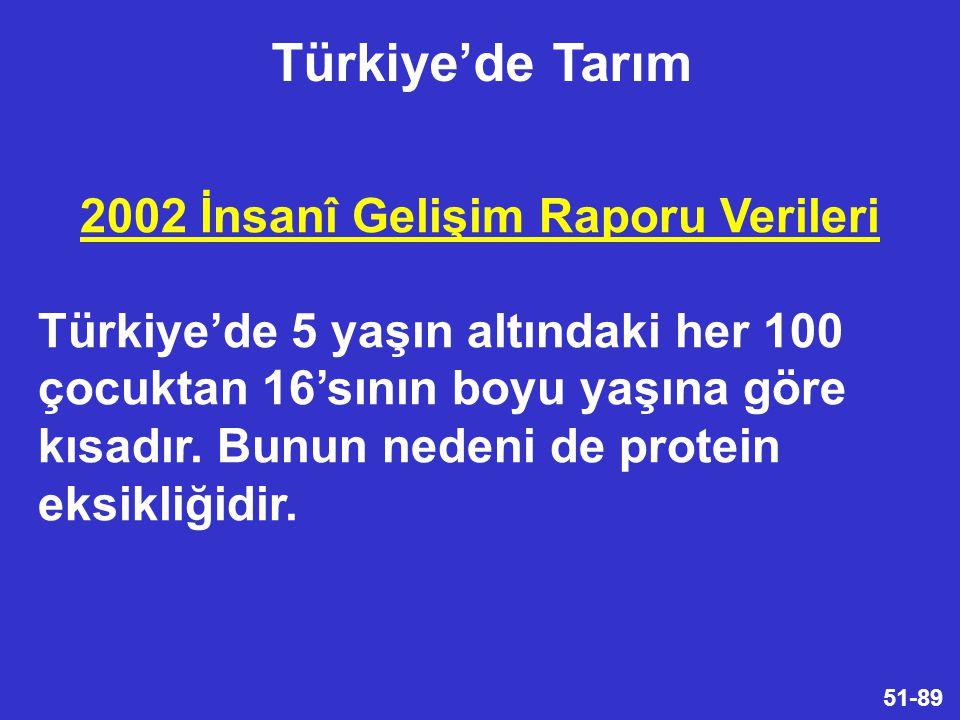2002 İnsanî Gelişim Raporu Verileri