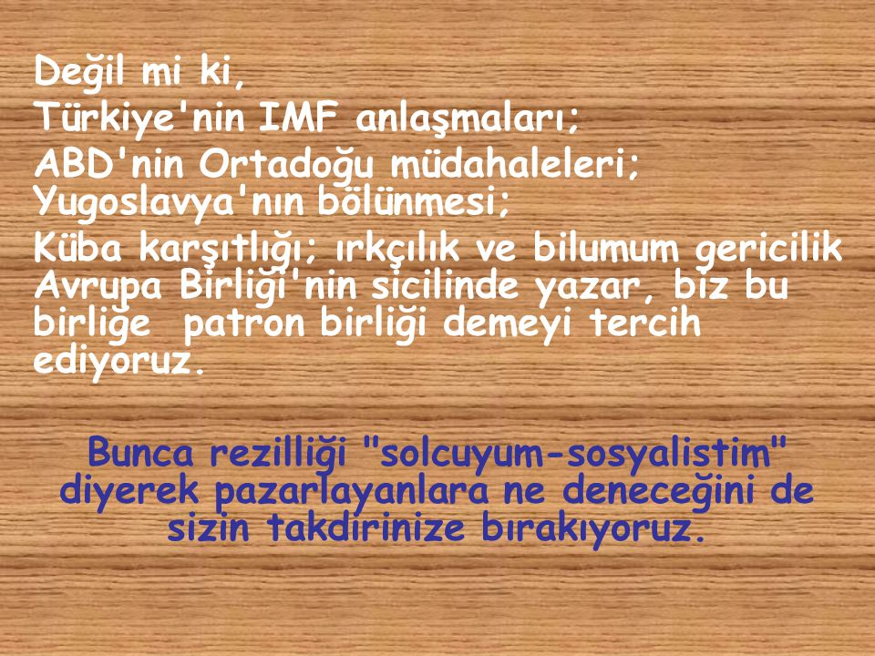 Türkiye nin IMF anlaşmaları;