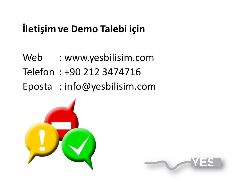İletişim ve Demo Talebi için
