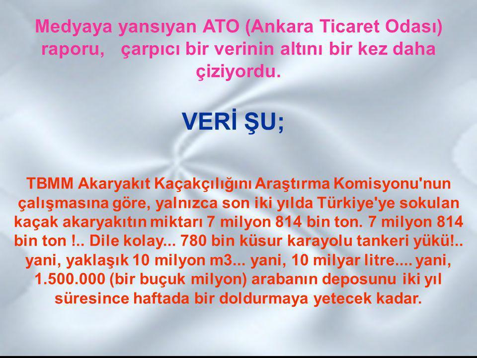 Medyaya yansıyan ATO (Ankara Ticaret Odası) raporu, çarpıcı bir verinin altını bir kez daha çiziyordu.