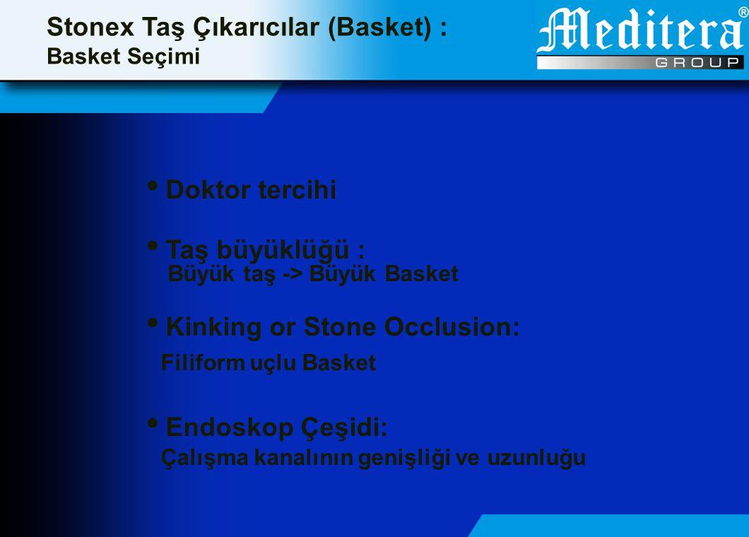 Stonex Taş Çıkarıcılar (Basket) : Basket Seçimi