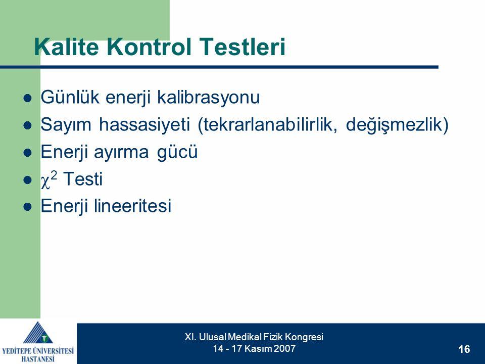 Kalite Kontrol Testleri