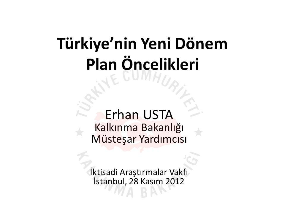 Türkiye'nin Yeni Dönem Plan Öncelikleri