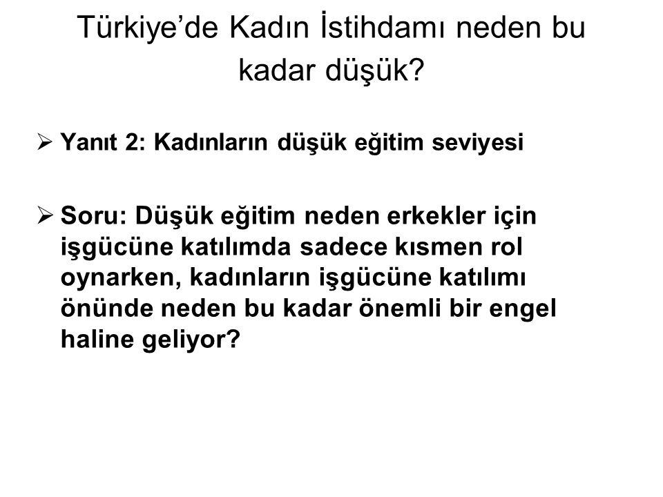 Türkiye'de Kadın İstihdamı neden bu kadar düşük