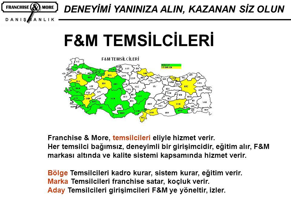 F&M TEMSİLCİLERİ DENEYİMİ YANINIZA ALIN, KAZANAN SİZ OLUN