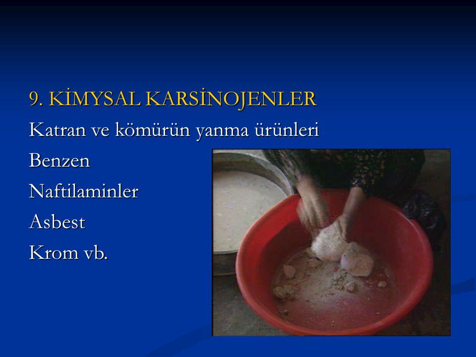 9. KİMYSAL KARSİNOJENLER