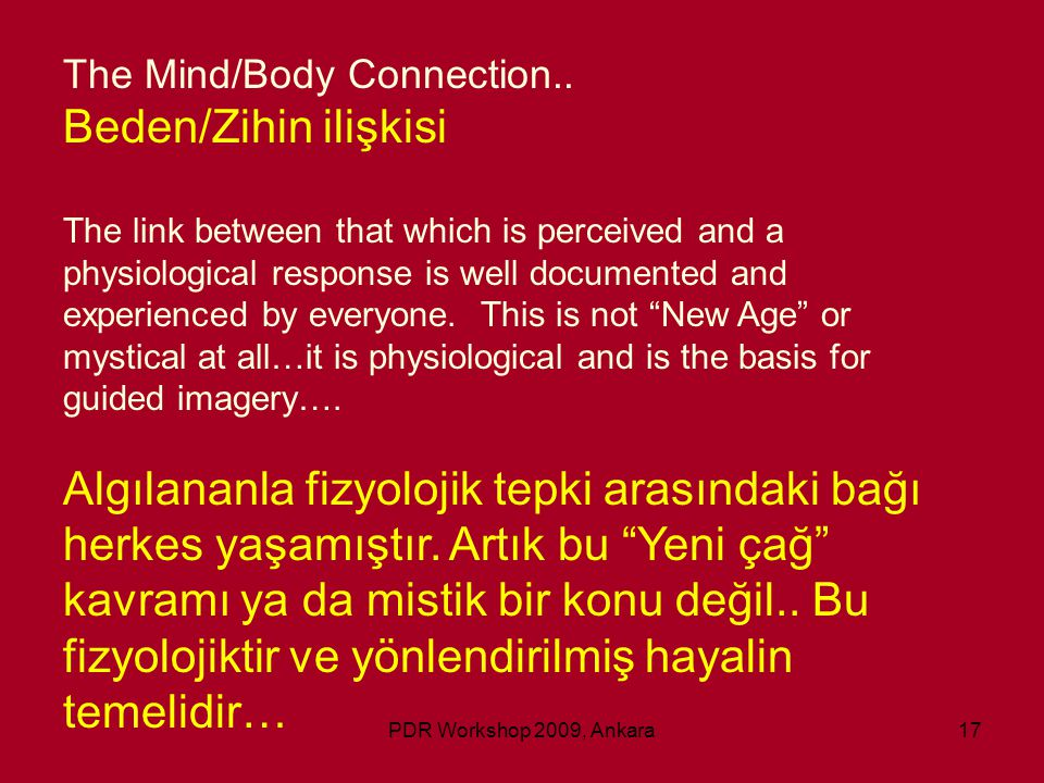 The Mind/Body Connection..