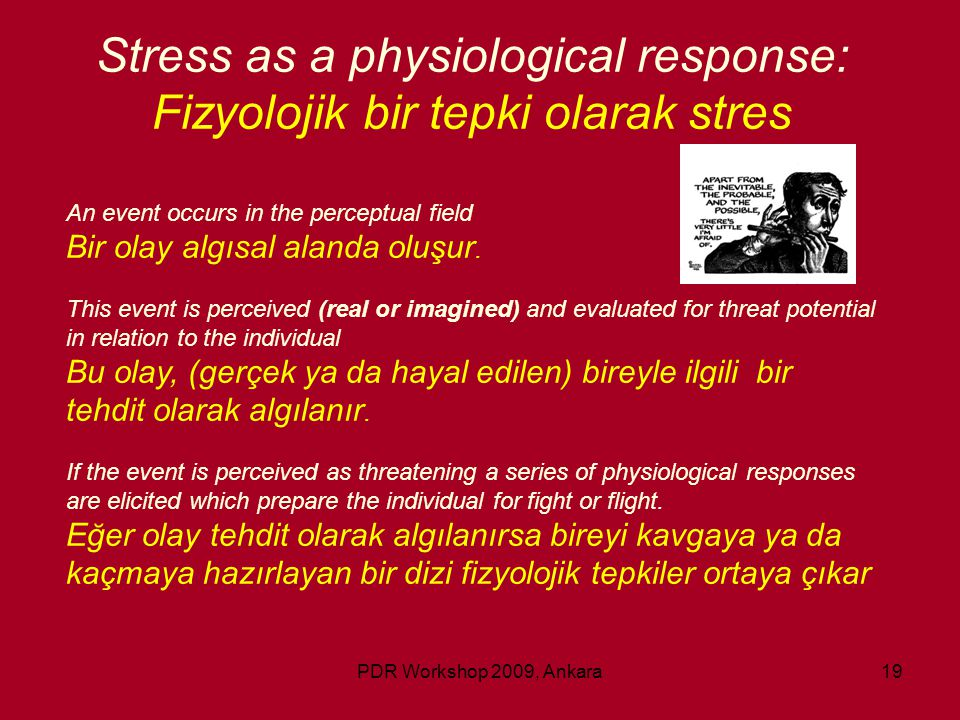 Stress as a physiological response: Fizyolojik bir tepki olarak stres