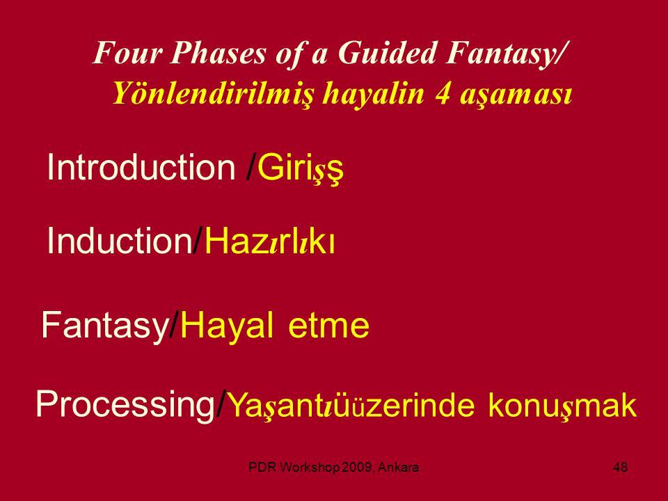 Four Phases of a Guided Fantasy/ Yönlendirilmiş hayalin 4 aşaması