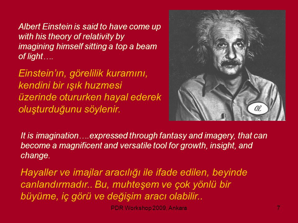 Albert Einstein is said to have come up with his theory of relativity by imagining himself sitting a top a beam of light….