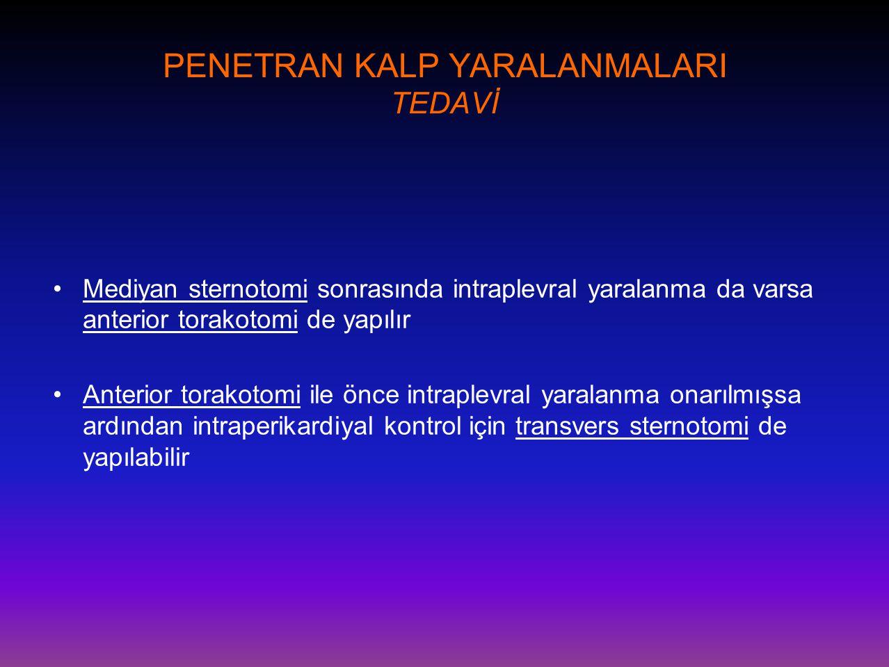 PENETRAN KALP YARALANMALARI TEDAVİ